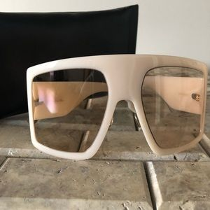 Christian Dior over size shield glasses